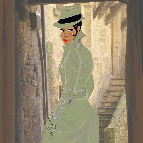 Espionage - Framed Illustrated/digital  20x24
