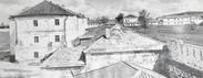 Вид на корпуса Успенского монастыря, где находилась ИТК №5.Свияжск. Середина ХХ