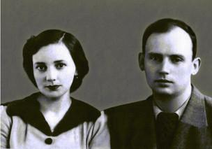 А.С. Леман с женой. 1946 Из семейного архива