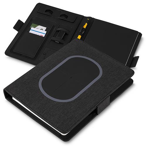Caderno de Anotações PowerBank 4.000mAh e Carregamento por Indução