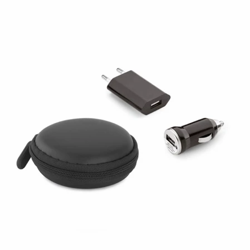 Kit de carregadores USB com Case