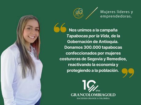Nuestra vinculación al programa Tapabocas por la Vida, fue resaltado por la Gobernación de Antioquia
