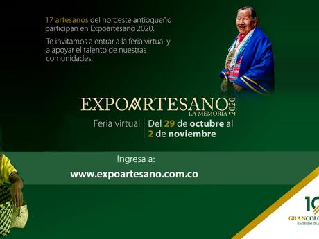 Gran Colombia Gold apoya edición XI de Expoartesano. Participan 17 artesanos del nordeste antioqueño