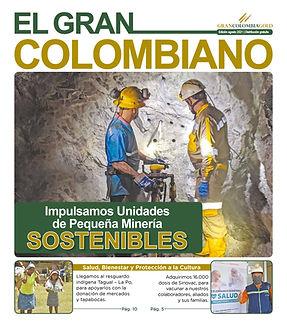 Portada El Gran Colombiano Agosto 2021 Gran Colombia Gold.jpg