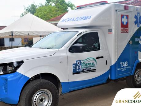 Gran Colombia Gold dona ambulancia medicalizada a Segovia