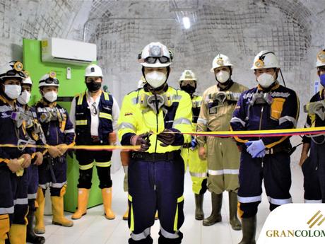 Gran Colombia Gold inaugura un nuevo refugio en la mina El Silencio.