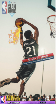 1. Example - Basketball (slam dunk stree