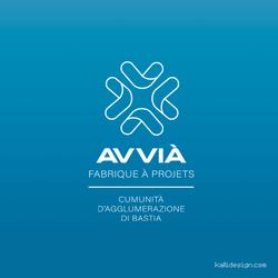 Identité visuelle AVVIÀ - Cumunità d'Agglumerazione di Bastia