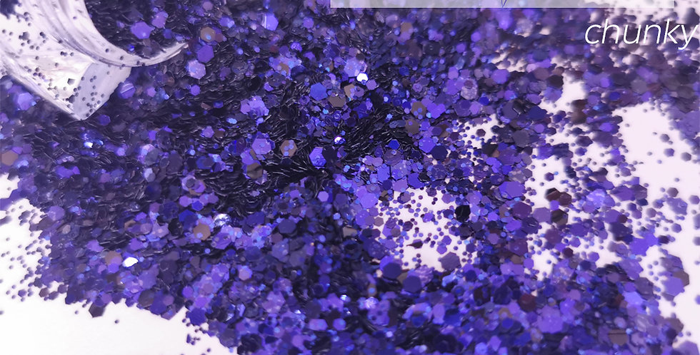 Purple Velvet Glitter - Mixed