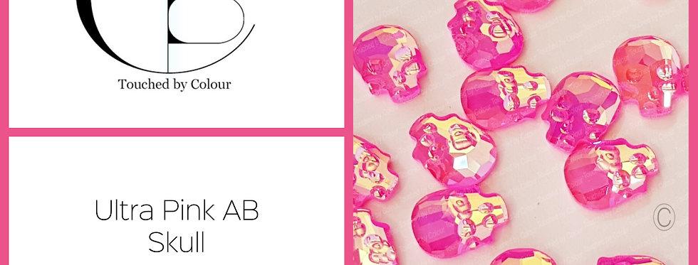 Skull - Ultra Pink AB - Specialty Shape