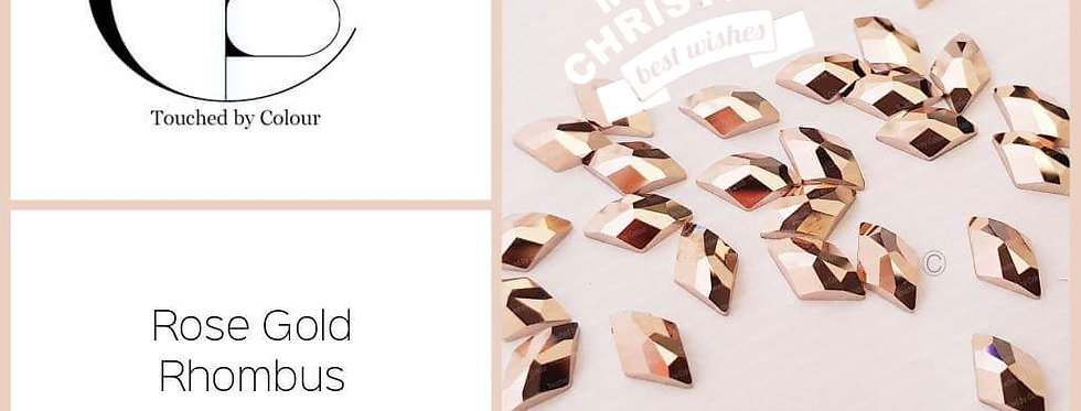Rose Gold Rhombus