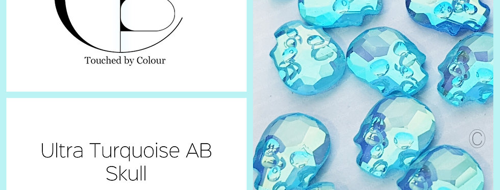 Skull - Ultra Turquoise AB - Specialty Shape