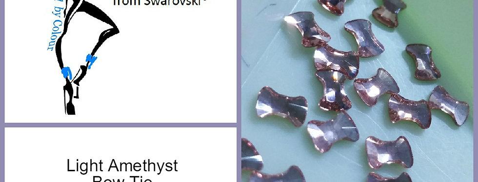 Bow Tie - Light Amethyst - Specialty Shape