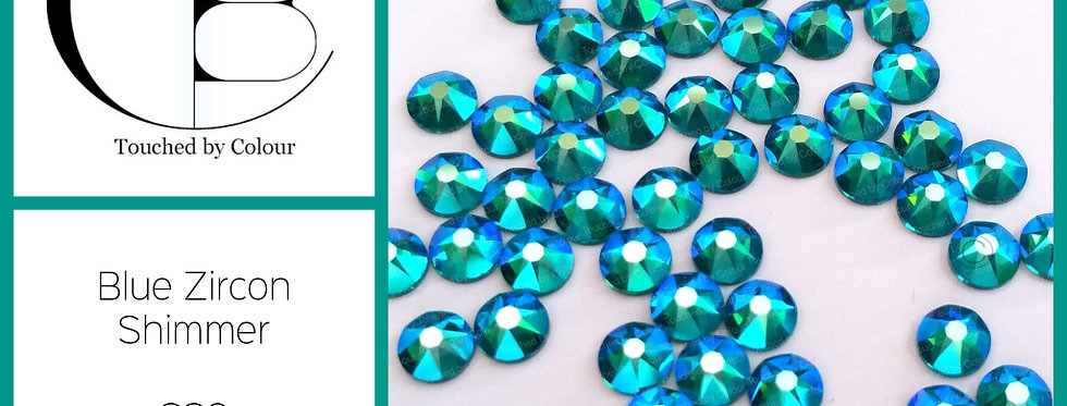 Blue Zircon Shimmer - Flat Back