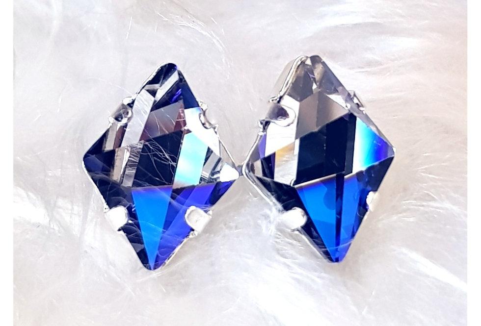 Bermuda Blue Spike Stud Earrings