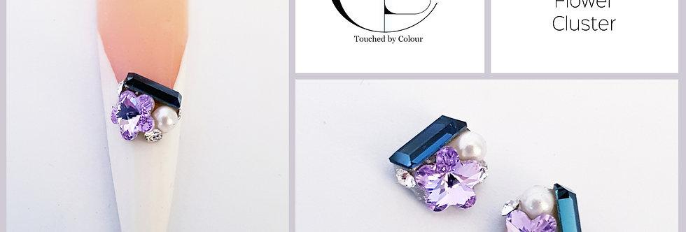 Violet Blue Flower Cluster