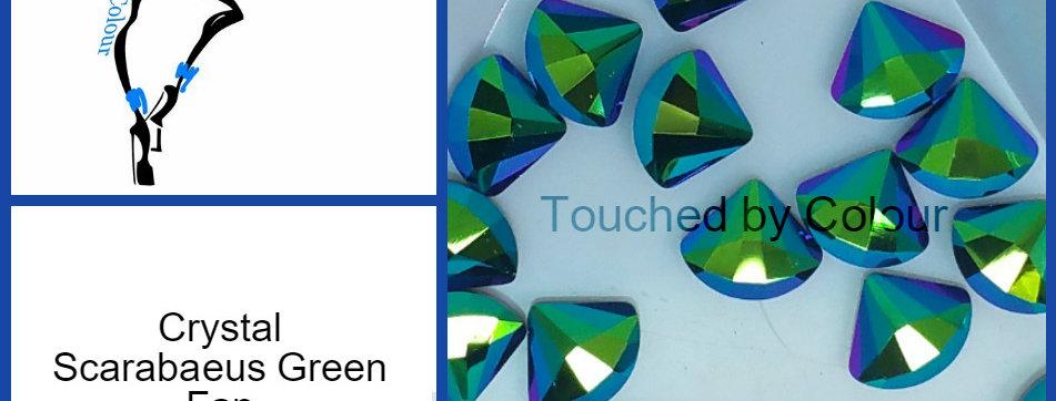 Fan - Scarabaeus Green - Specialty Shape