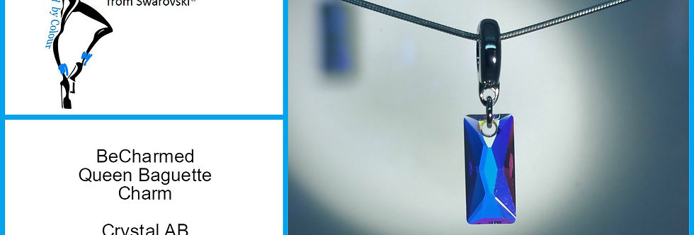 Swarovski® BeCharmed Baguette Charm Crystal AB