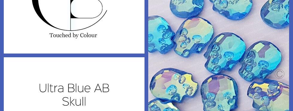 Skull - Ultra Blue AB - Specialty Shape