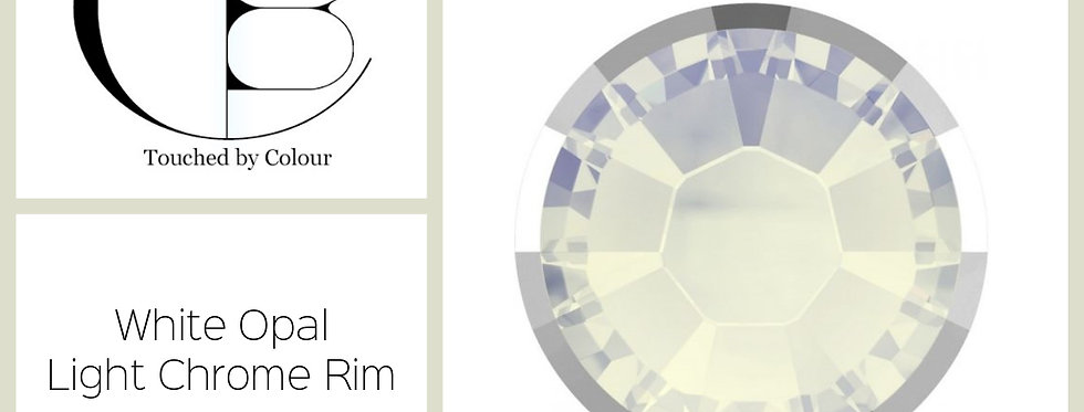 White Opal Light Chrome Rim - Flat Back