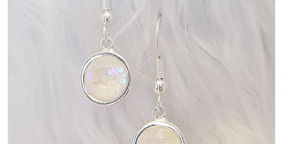 Crystal Grey DeLite Fish Hook Earrings