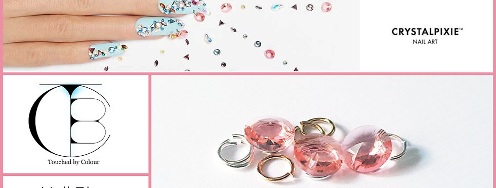 Rose Peach Tiny Treasures Nail Piercing - Chatons