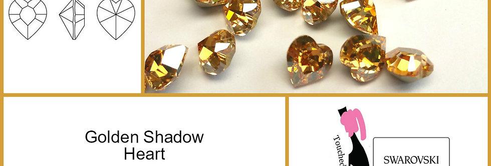 Golden Shadow Heart - Fancy Shape