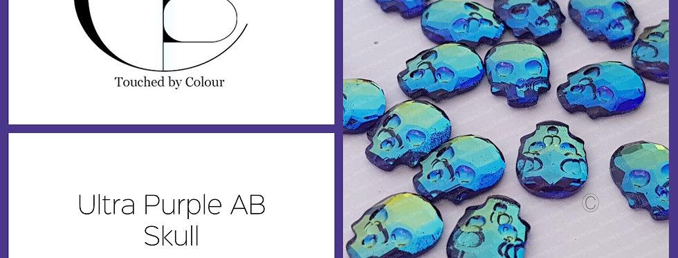 Skull - Ultra Purple AB - Specialty Shape