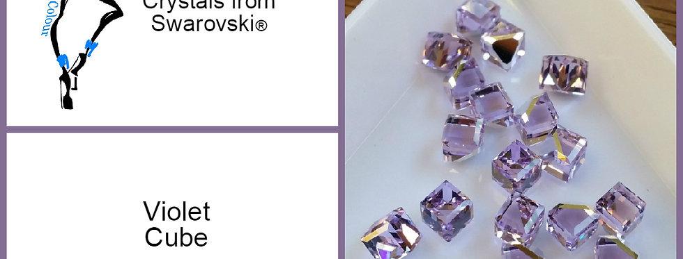 Cube - Violet  - Fancy Shape