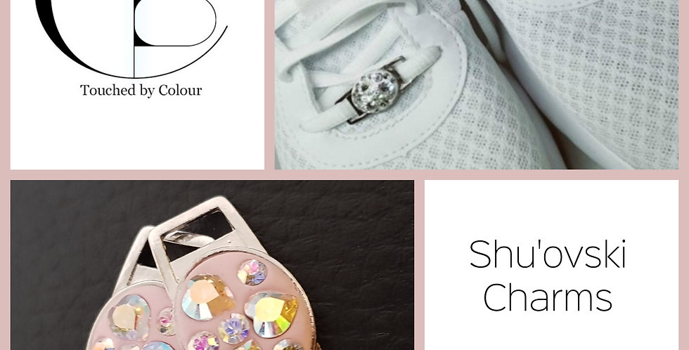 Shu'ovski Charms - Crystal AB Pink Heart