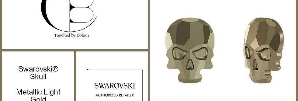 Skull - Metallic Light Gold- Specialty Shape