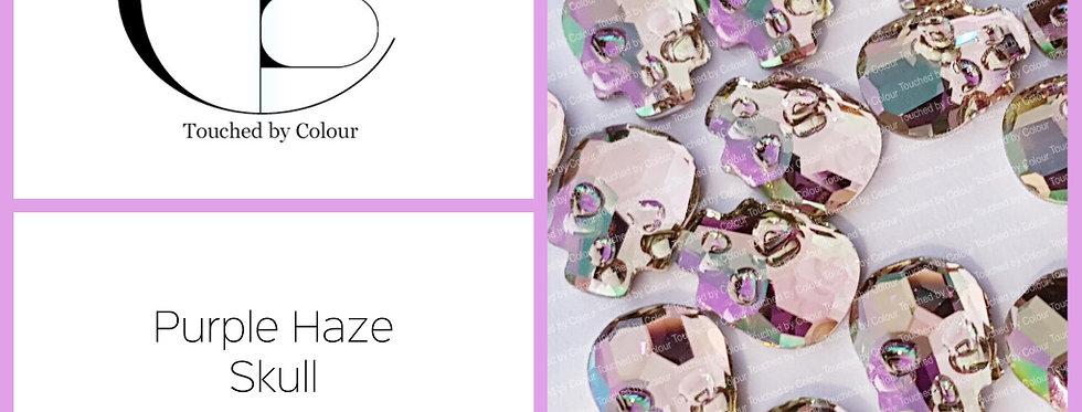Skull - Purple Haze - Flat Back