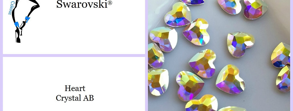 Heart - Crystal AB - Specialty Shape