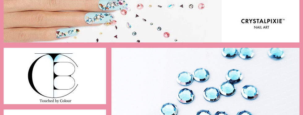 Aquamarine Silver Rim - Tiny Treasures Flat Back