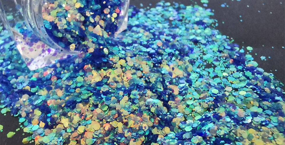 Aquamarine AB Glitter - Mixed