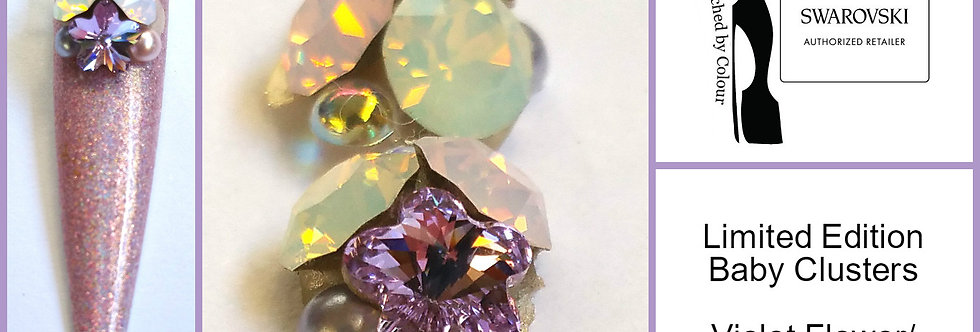 Baby Cluster - Violet Flower/Rose Water Opal