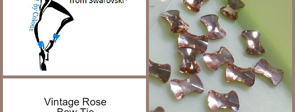 Bow Tie - Vintage Rose - Specialty Shape
