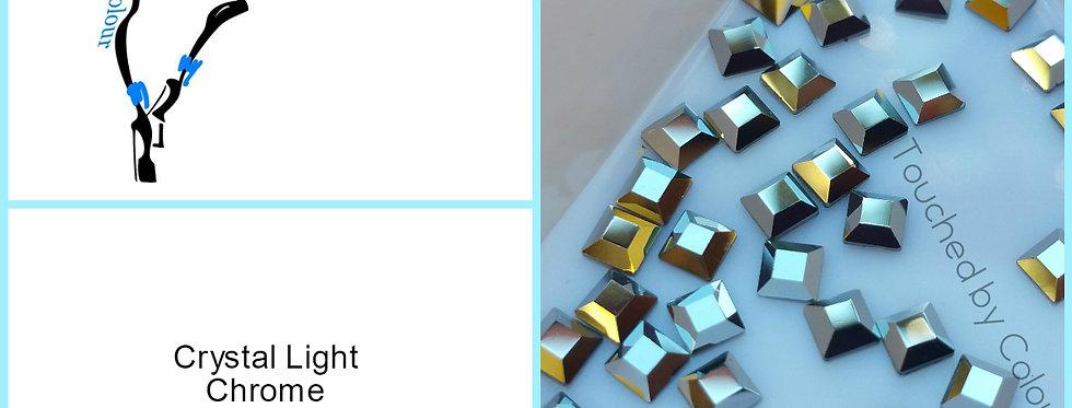 Square 3mm - Light Chrome - Flat Back