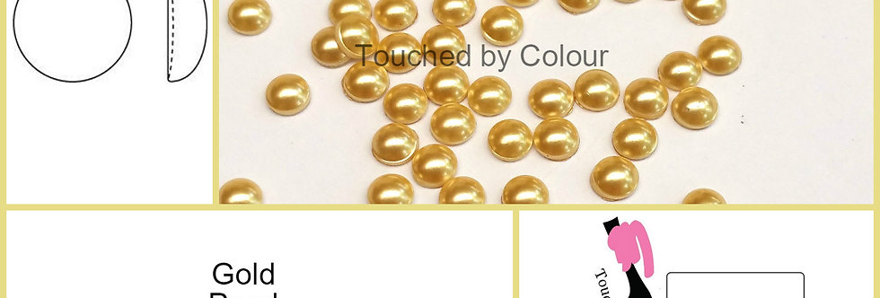 Gold Pearl - Flat Back