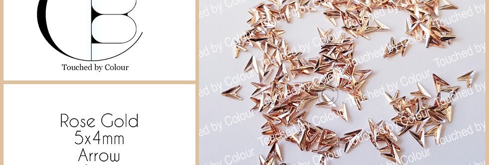 Rose Gold 5x4mm Arrow Stud - 50 pieces