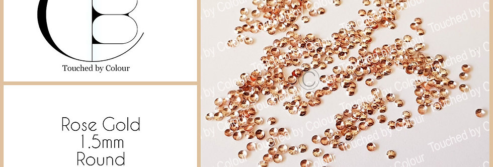 Rose Gold 1.5mm Round Stud - 50 pieces