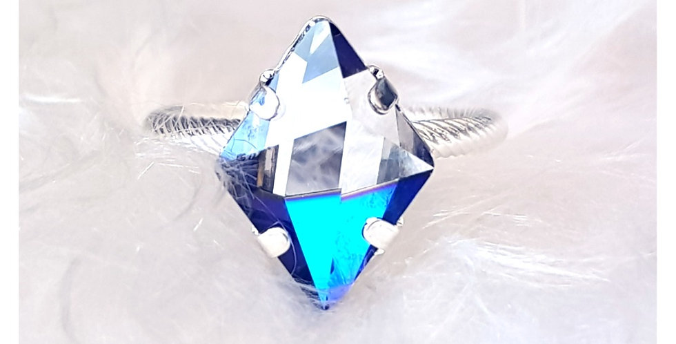 Bermuda Blue Tilted Ring