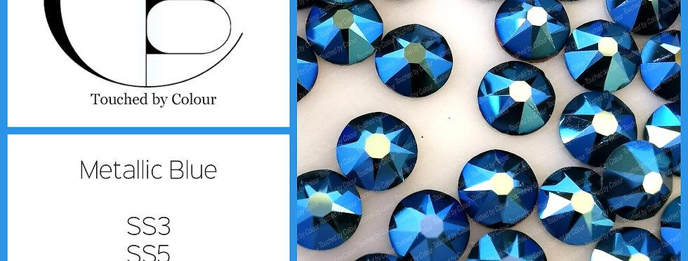 Metallic Blue - Flat Back
