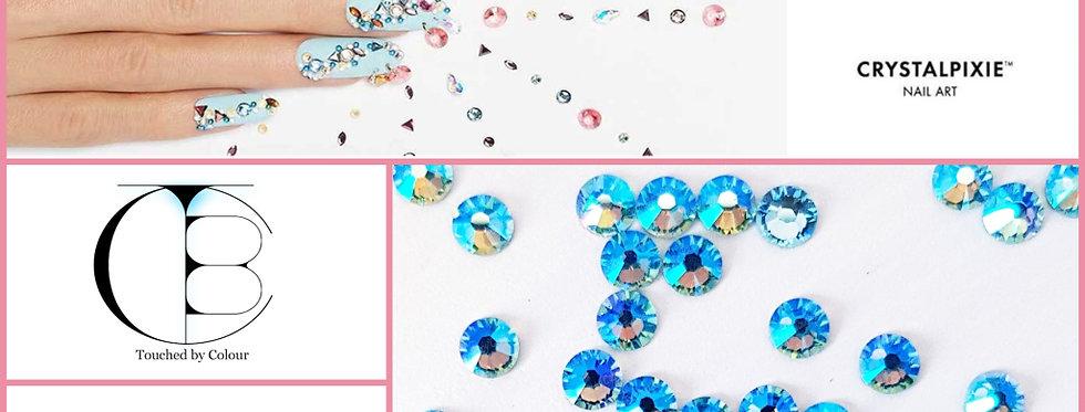 Aquamarine Shimmer - Tiny Treasures Flat Back