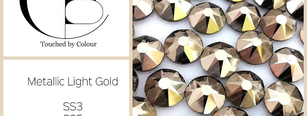 Metallic Light Gold - Flat Back
