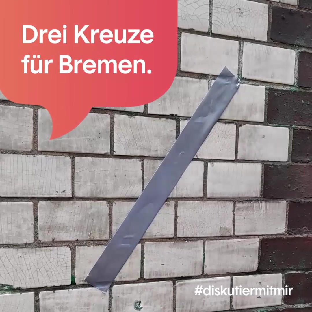 Asset aus der Kampagne zur Bürgerschaftswahl in Bremen 2019