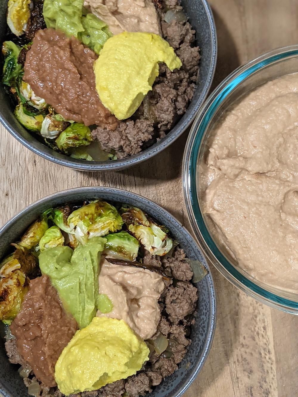 The Sunday Cookbook - Southwestern TruBeef and Veggie Bowls with Refried Bean Hummus - amanda macgregor - joseph centineo - food allergy recipes