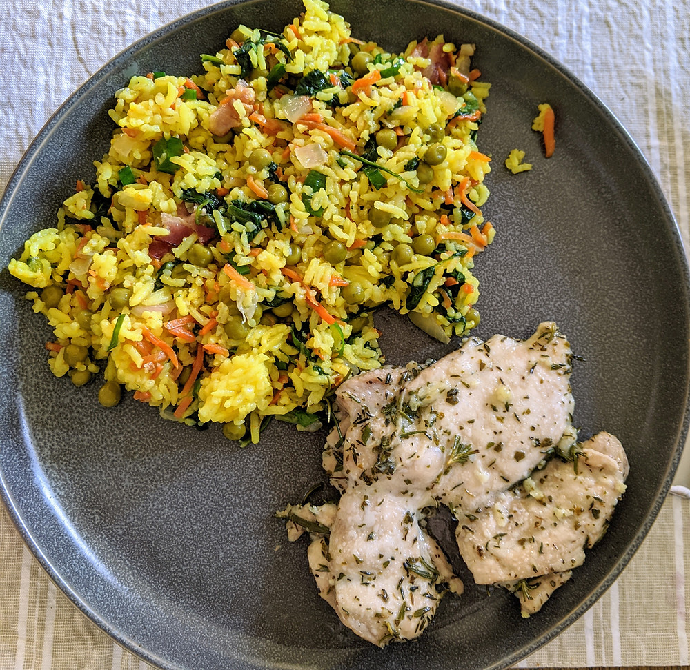 """The Sunday Cookbook - Herb """"Butter"""" Chicken Thighs - joseph centineo - macgregor - food allergy recipes - dairy free - whole30"""