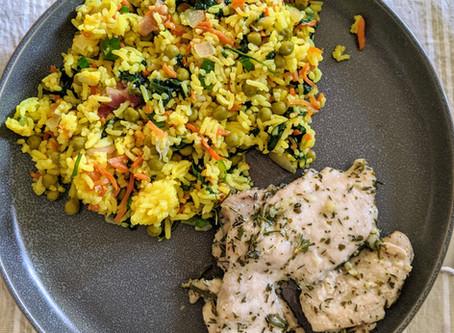 "The Sunday Cookbook: Herb ""Butter"" Chicken Thighs"