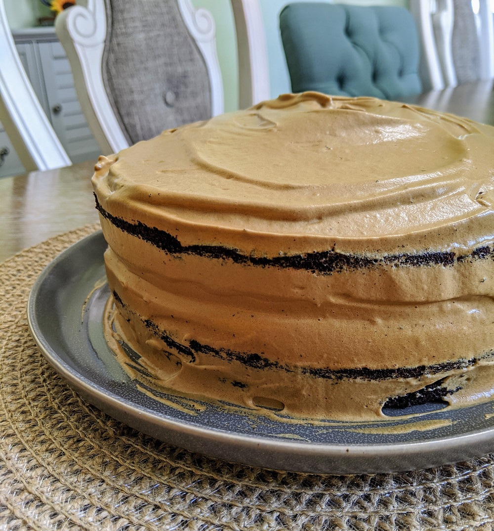 Chocolate Coffee Cake with Dalgona Coffee Frosting - amanda macgregor - joseph centineo - food allergy recipes